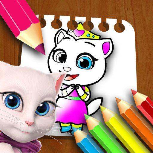 My Angela Talking Coloring Book